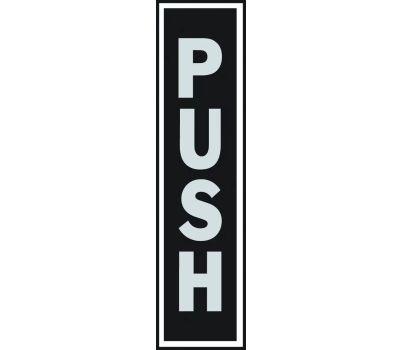 Hy Ko 435 2 Inch By 8 Inch Aluminum Self Adhesive Push Sign