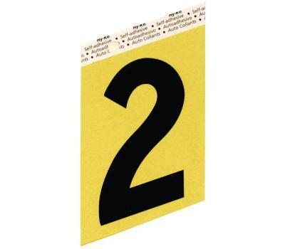 Hy Ko GG-25/2 Hy-Ko 3-1/2 Inch Press-On Gold Aluminum Black Number 2