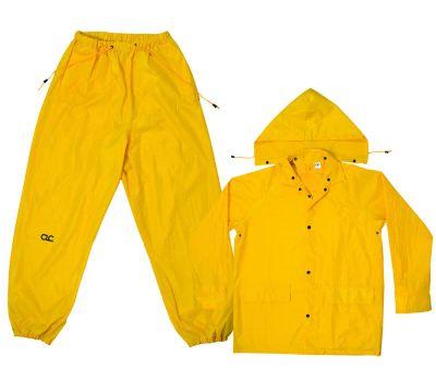 Custom Leathercraft R1022X Climate Gear 3 Piece Rain Suit Yellow Polyester 2Xlarge