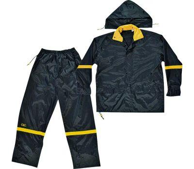 Custom Leathercraft R103L Climate Gear Deluxe Nylon 3 Piece Rain Suit Large
