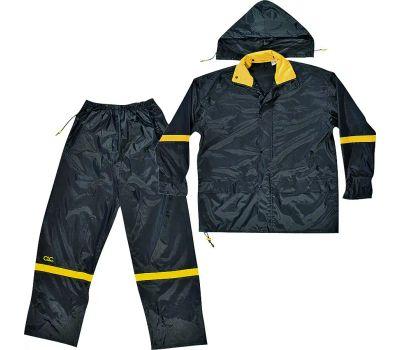 Custom Leathercraft R103X Climate Gear Deluxe Nylon 3 Piece Rain Suit Extra Large