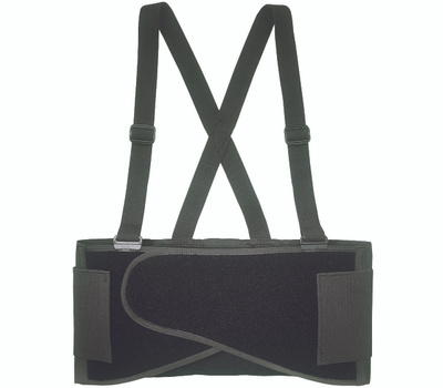 Custom Leathercraft 5000L Back Support Belt, L, Fits to Waist Size: 38 to 47 in