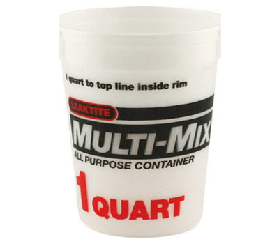 Leaktite 2M3-50 Calibrated Mixing Container Quart