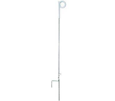 Fi Shock PTP39A Zareba Pigtail Step-in Fence Post, 4 Ft Oah, Plastic/Steel, Silver