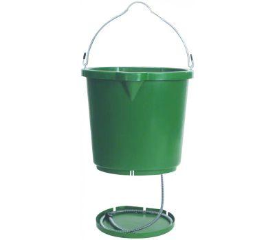 Farm Innovators FB120 Heated Bucket, Polyethylene, Green