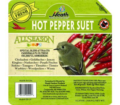 Heath DD-25 All Season Suet Hot Pepper