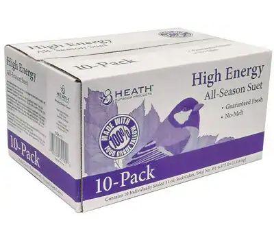 Heath DD4-10 All Season Suet Cake 11.25 Ounce Pack Of 10