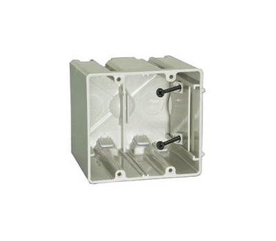 Allied Moulded SB=2 Sliderbox Sb-2 Electrical Wall Box, 2-Gang, 4-Outlet, 2-Knockout, 1/2 in Knockout, Polycarbonate