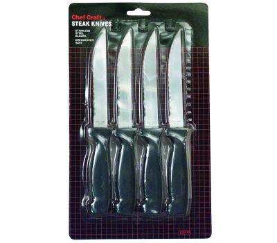 Chef Craft 20979 Kitchen Steak Knives 4-1/2 Inch Blade 4 Piece