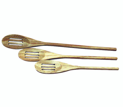 Chef Craft 20985 Spoon Slotd Wd 3pc 10/12/14in