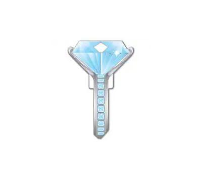 Lucky Line B102K Key Blank Diamond Ring Kwikset