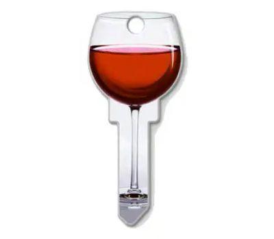 Lucky Line B108K Key Blank Red Wine Kwikset
