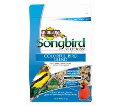 Global Harvest 11972 Songbird Selections Wild Bird Food, Colorful Bird Blend, 4 Pound