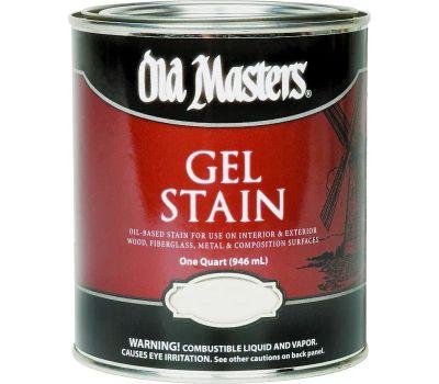 Old Masters 80404 Gel Stain Interior Exterior Red Mahogany Quart