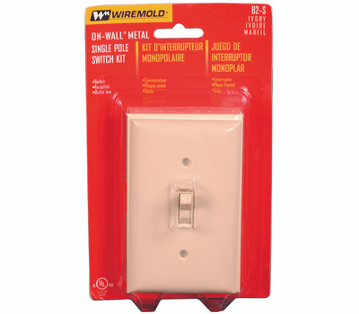 Wiremold B2S Outlet Box Sgl Switch Ivory