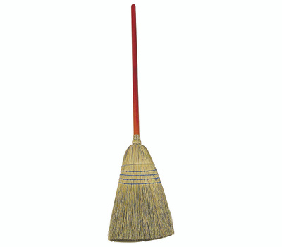 Rubbermaid Commercial FG638300BLUE Warehouse Broom, 12 in Sweep Face, Corn Fiber Bristle, 58-1/4 in L, Lacquered/Stained Handle