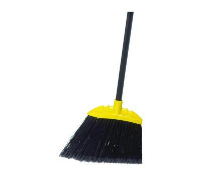 Rubbermaid Commercial FG637400BLA Lobby Broom, 7-1/2 in Sweep Face, 5 in L Trim, Polypropylene Bristle, Black Bristle, 35 in L