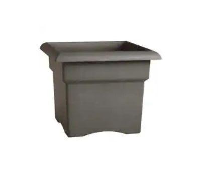 Bloem VER18908 Veranda Deck Box Planter, 18 in W, Square, Plastic, Charcoal