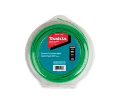 Makita T-03361 Round Trimmer Line, 0.08 in Dia, 400 Ft L, Nylon, Green