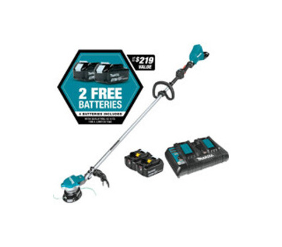 Makita XRU15PT1 Cordless String Trimmer Kit, Lithium-Ion Battery, 15 in Cutting Swath, Teal