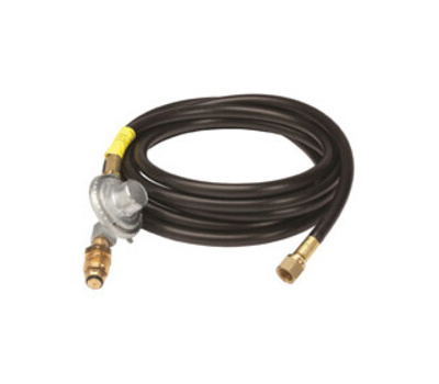 Mr Heater F273072 Mr. Heater Propane Hose Assembly, 400 to 600 Psi Regulating, 3/8 in Connection, Female Flare, 12 Ft L Hose