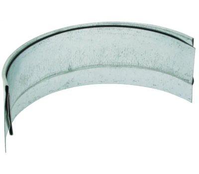 Billy Penn 2622 Half Round Slip Joint Connector Galvanized 5 Inch