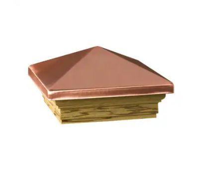 Deckorators 72227 Maine Ornamental 6 Inch By 6 Inch Copper Pressure Treated Post Cap