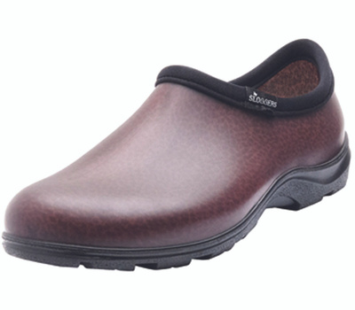 Principle Plastics 5301BN10 Sloggers Comfort Rain and Garden Shoe, 10, Brown, Resilient Resin Upper