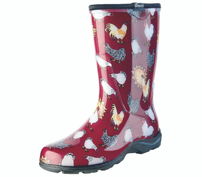 Principle Plastics 5016CBR08 Sloggers Boot Rain/Gard Women Red Sz 8
