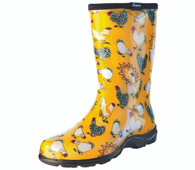 Principle Plastics 5016CDY06 Sloggers 5016cdy-06 Rain and Garden Boots, 6 in, Chicken, Daffodil Yellow