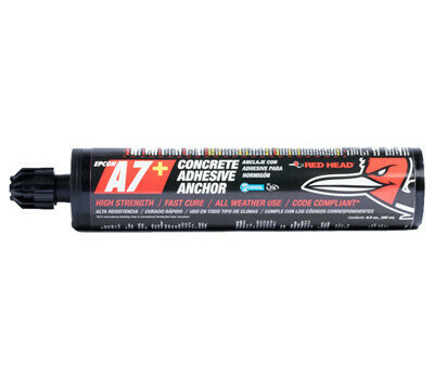 ITW Red Head 07111 A7+ Epoxy Adhesive With Nozzle Gray 10 Ounce