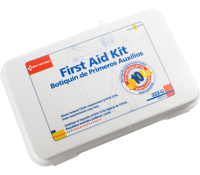 First Aid Only 222-G 63 Piece First Aid Kit For 10 Employees