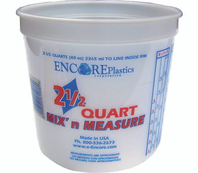 Encore 300344 Mix n Measure 2-1/2 Quart Calibrated Mixing Container No Lid