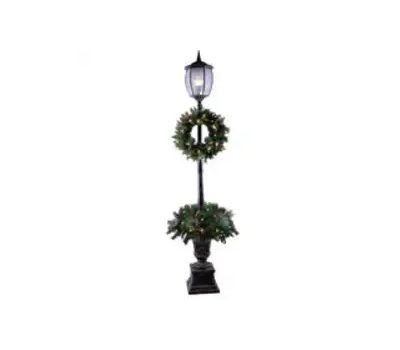 Santas Forest 27570 Post Lamp, Pvc