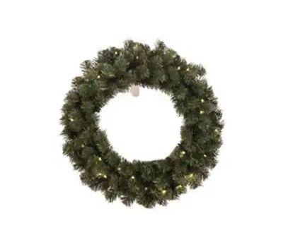 Santas Forest 61928 Wreath Fir Nbl Shrd Prlt 24in