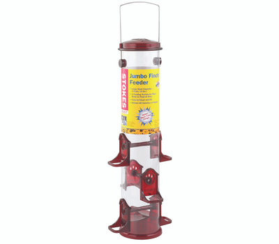 Classic Brands 38032 Stokes Finch Feeder, 18 in H, 2.5 Qt, Polycarbonate, Red/Yellow, Hanging Mounting