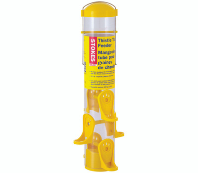Classic Brands 38224 Stokes Thistle Feeder, 15 in H, 1.1 Qt, Plastic, Clear Yellow, Hanging Mounting