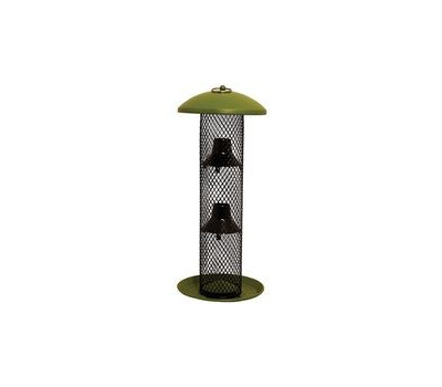 Perky Pet GSS00347 Perky-Pet No/No Wild Bird Feeder, 16-1/2 in H, 1.5 Pound, Metal, Green, Powder-Coated, Hanging Mounting