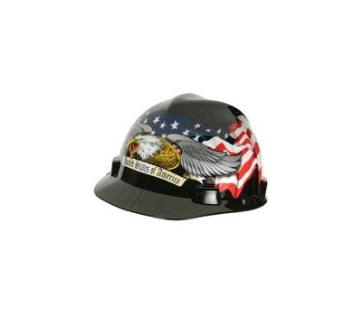 Safety Works 10124207 Hard Hat, Fas-Trac Suspension, Polycarbonate Shell, Black, Class: E