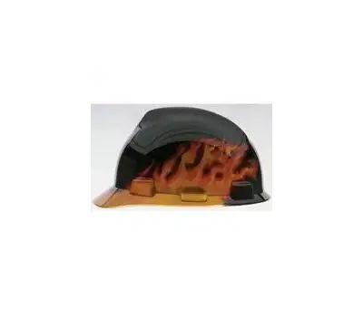 Safety Works 10124206 Hat Hard Black Fire V-Gard