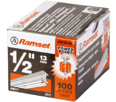 Ramset 06171 Drive Pins 1/2 Inch By .300 For Structual Steel 100 Pack