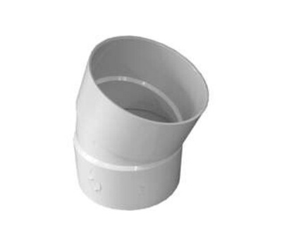 Ipex Canplas 414206BC 6 Inch Pvc S And D 22-1/2 Degree Elbow