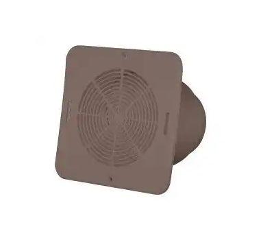 Canplas 646015BR Duraflo Soffit Exhaust Vent, 5-3/4 in W, Vinyl, Brown