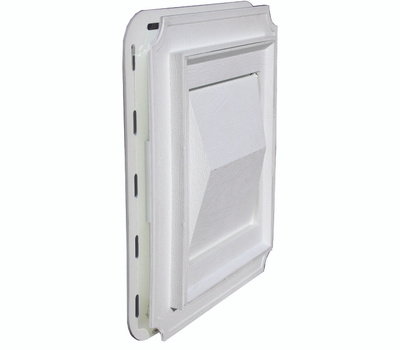 Builders Best 111716 Dryer Vent Hood For Use With J-Block Dryer White Plastic