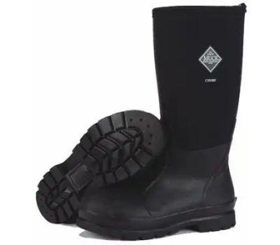 Muck Boot CHH000A-11 Chore Hi Boots, 11, Black, Rubber Upper