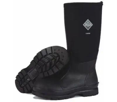 Muck Boot CHH000A-13 Chore Hi Boots, 13, Black, Rubber Upper