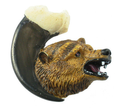 Sierra Lifestyles SL-681361 Rustic Lodge Collection Grizzly Bear On Claw Facing Right Cabinet Knob