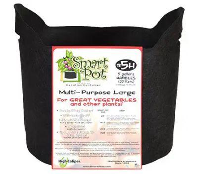 High Caliper Growing 21005 5gal Blk Smart Pot