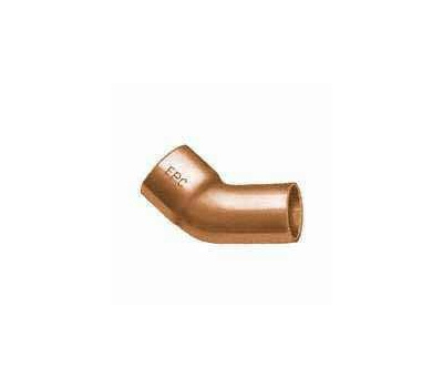 Elkhart 31194 1/2 Inch 45 Degree Wrought Copper Elbow