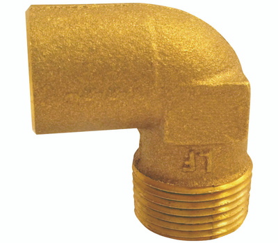 Elkhart 10156842 Lo-Lead 1/2 Inch C X M 90 Degree Copper Elbow